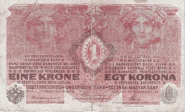 1916 - 1 korona, női arcok