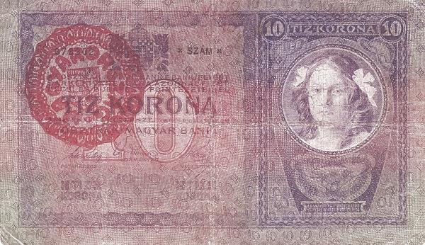 1904 - 10 korona, női arc