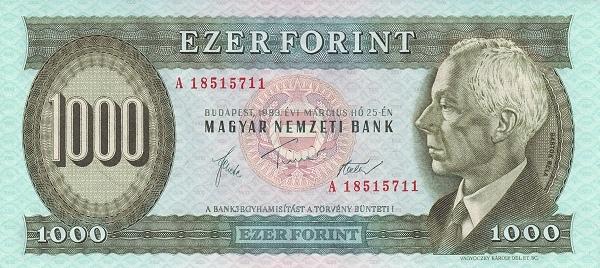 1983 - 1000 forint, Bartók Béla - Magyar Nemzeti Bank
