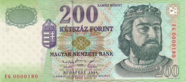1998 - 200 forint, Károly Róbert - Magyar Nemzeti Bank