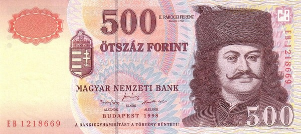1998 - 500 forint, II. Rákóczi Ferenc fejedelem - Magyar Nemzeti Bank