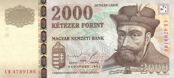 1998 - 2000 forint, Bethlen Gábor fejedelem - Magyar Nemzeti Bank