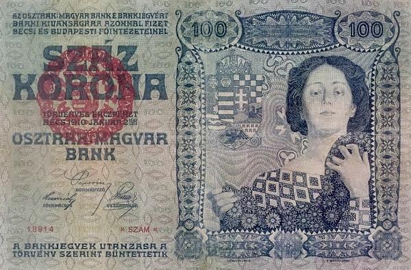 1910 - 100 korona, női alak virágokkal - osztrák-magyar bank