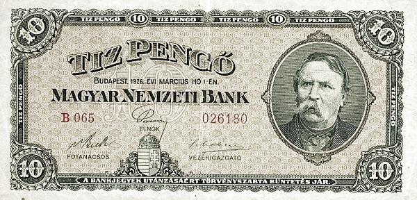 1926 - 10 pengő, Deák Ferenc - Magyar Nemzeti Bank