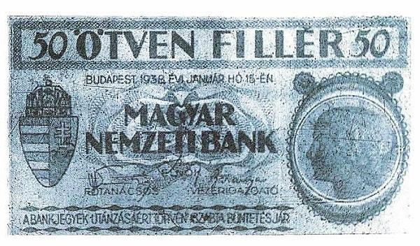 1938 - 50 fillér, lány arc - Magyar Nemzeti Bank