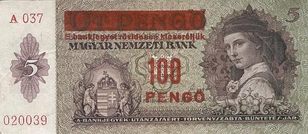 1939 - 100 pengő, női arc - Magyar Nemzeti Bank