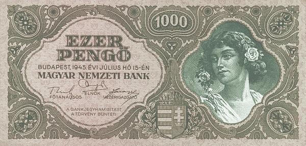 1945 - 1000 pengő, női arc - Magyar Nemzeti Bank