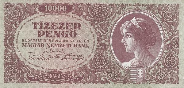 1945 - 10 000 pengő, női arc - Magyar Nemzeti Bank
