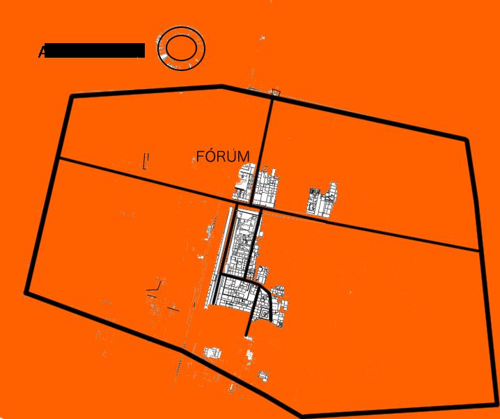 Aquincum polgárvárosa a BTM Aquincumi Múzeum alaprajza alapján