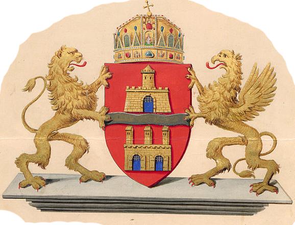 A Fridrich Lajos és Altenburger Gusztáv által megalkotott Budapest-címer