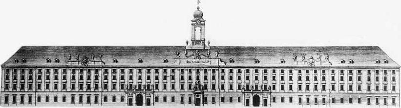 A Városháza épülete, a kórháznak épült Invalidus ház