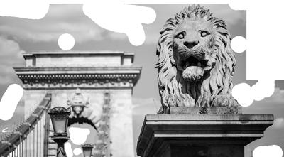 A Lánchíd az egyik oroszlánnal